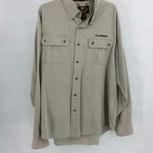 Harley Davidson Beige Long Sleeve Shirt Size: XL